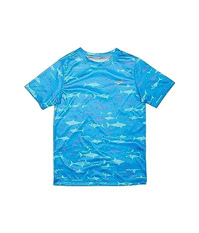 Speedo Kids Short Sleeve Printed Swim Shirt (Little Kids/Big Kids)