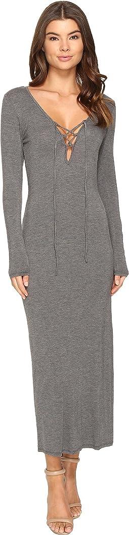 Culture Phit - Annouk Tie-Front Long Sleeve Dress