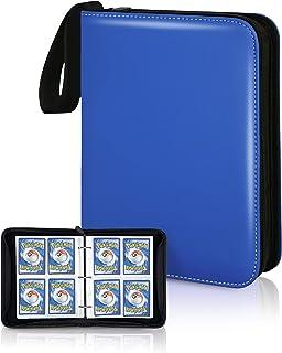 CLOVERCAT 4 Pocket Trading Card Binder, Waterproof Trading Album Display Holder, Expandable,400 Double Sided Pocket Album ...