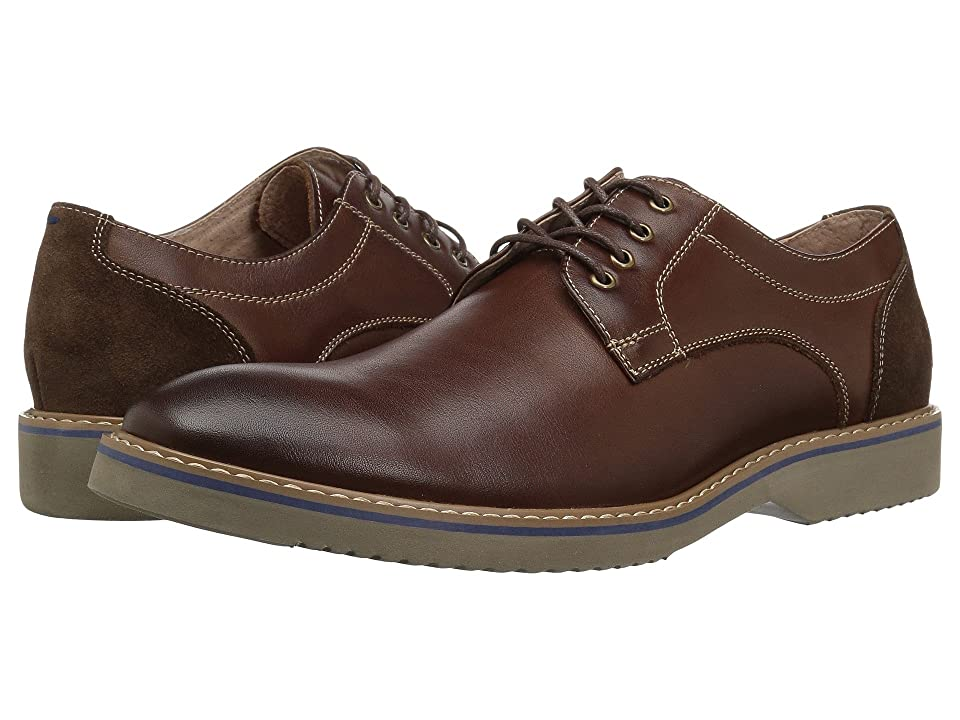 Florsheim Union Plain Toe Oxford (Chocolate Leather/Suede) Men