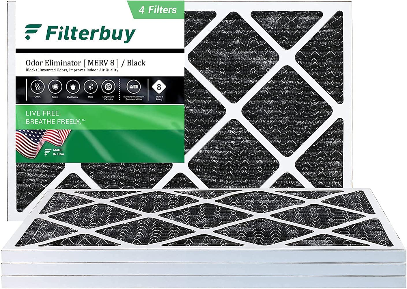 FilterBuy 18x30x1 Air Filter MERV Eliminator 8 Product Allergen Odor Max 73% OFF