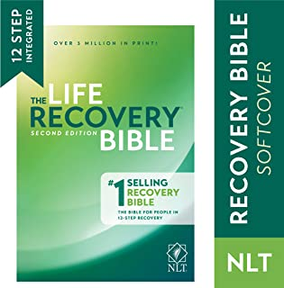 Tyndale NLT Life Recovery Bible (Softcover): 2nd Edition - Addiction Bible Tied to 12 Steps of Recovery for Help with Drugs, Alcohol, Personal Struggles – With Meeting Guide