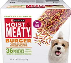 Purina Moist & Meaty Dry Dog Food, Burger with Cheddar Cheese Flavor - 36 ct. Pouch