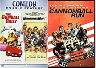 Crazy Races Cannonball Run Part 1 & 2 Double Feature DVD + The Gumball Rally Stars Stunts & Laughs 3 Movie Marathon
