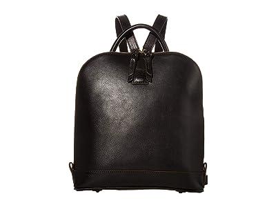 Dooney & Bourke Florentine Zip Pod Backpack (Black/Self Trim) Backpack Bags