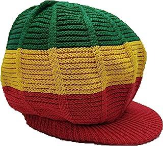 8dd10a6c7eb484 FIREBUNs Green Red Yellow Rasta Hat Cap Rasta Reggae Jamaica Dreadlocks M/L