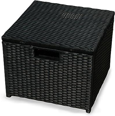 40 x 40 x 44 cm IND-70075-HO Polyrattan Indoba Gartenhocker,Valencia Serie Valencia schwarz