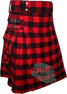 Rob Ray Tartan (16Oz Acrylic Wool Tartan) Fashion Utility Kilt For Men's