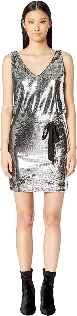 Mermaid Sequin V-Neck Dress