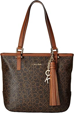 Claire North/South Monogram Tote