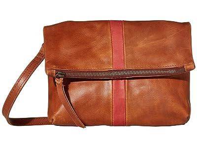 ABLE Emnet Fold-Over Crossbody (Brick Red/Whiskey) Cross Body Handbags