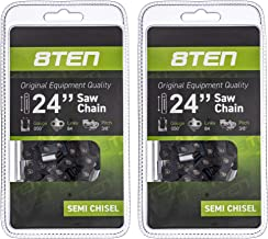 8TEN Chainsaw Chain for Stihl 024 026 029 046 044 Husqvarna 440 285 33RM 84 H51 84 24 Inch .050 3/8 84DL 2 Pack