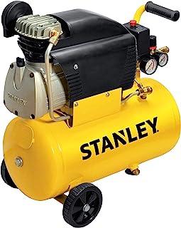 Stanley - Compresor Stanley D211/8/24 - Capacidad 24 litros - Motor 2 HP - Color Amarillo - Peso 24 kg