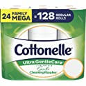 Cottonelle Ultra GentleCare Toilet Paper (24 Family Mega Rolls)