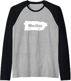 Medina Last Name, Camisas de Puerto Rico Raglan Baseball Tee
