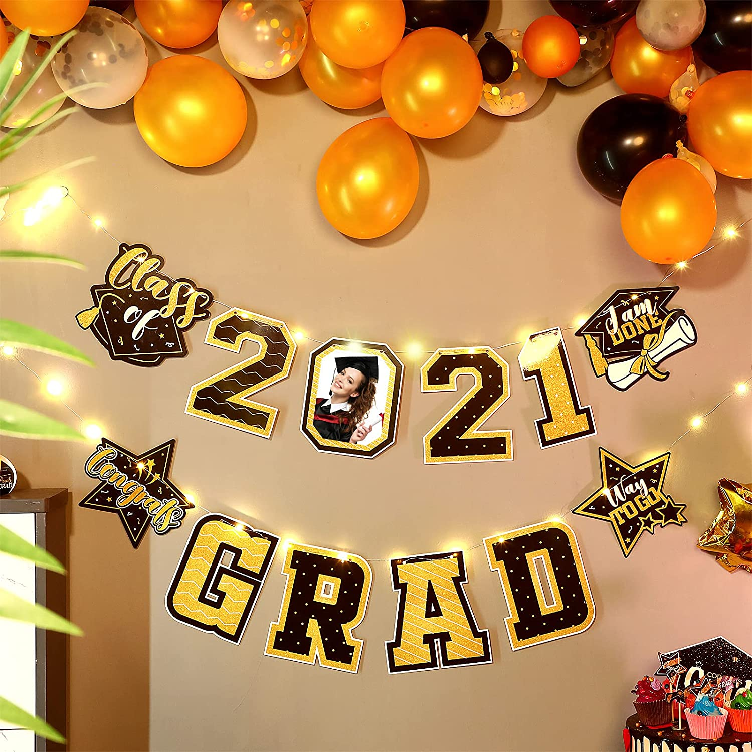 Max Ranking TOP11 42% OFF 2021 Graduation Banner Decorations LED String Fairy Lights Hang