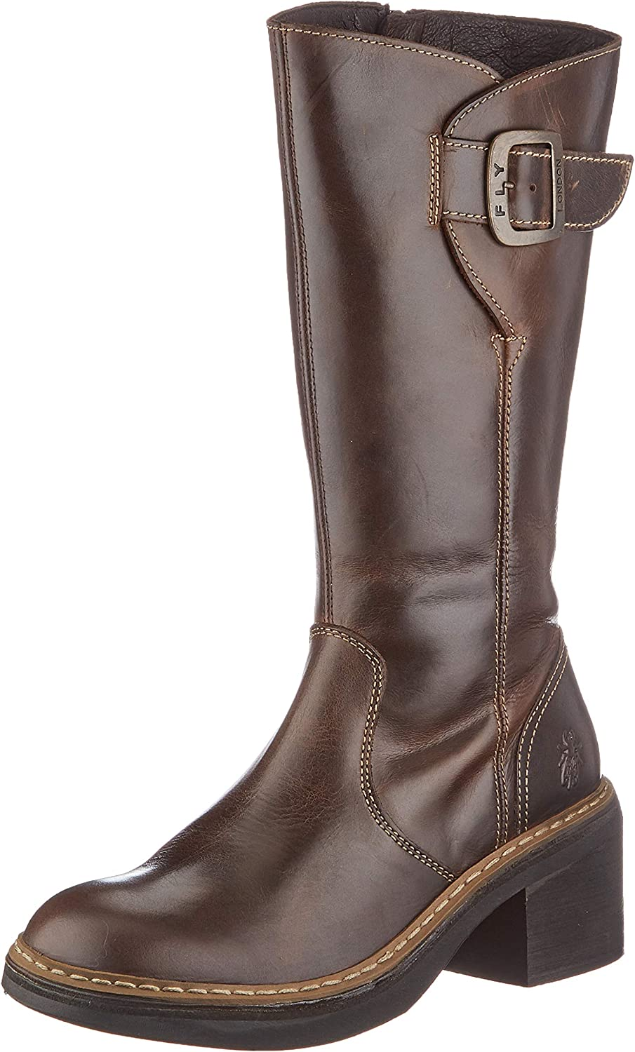 FLY LONDON Women's ERIS050FLY Mid DK. Ranking TOP19 Calf Boot New popularity Brown