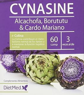 DietMed Cynasine. Complemento Alimentico con Alcachofa. Borututu y Cardo Mariano. 60 Cápsulas