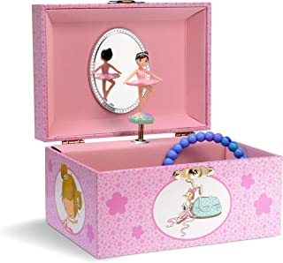 Jewelkeeper Girl's Musical Jewelry Box, Lovely Ballerina Design, Swan Lake Tune