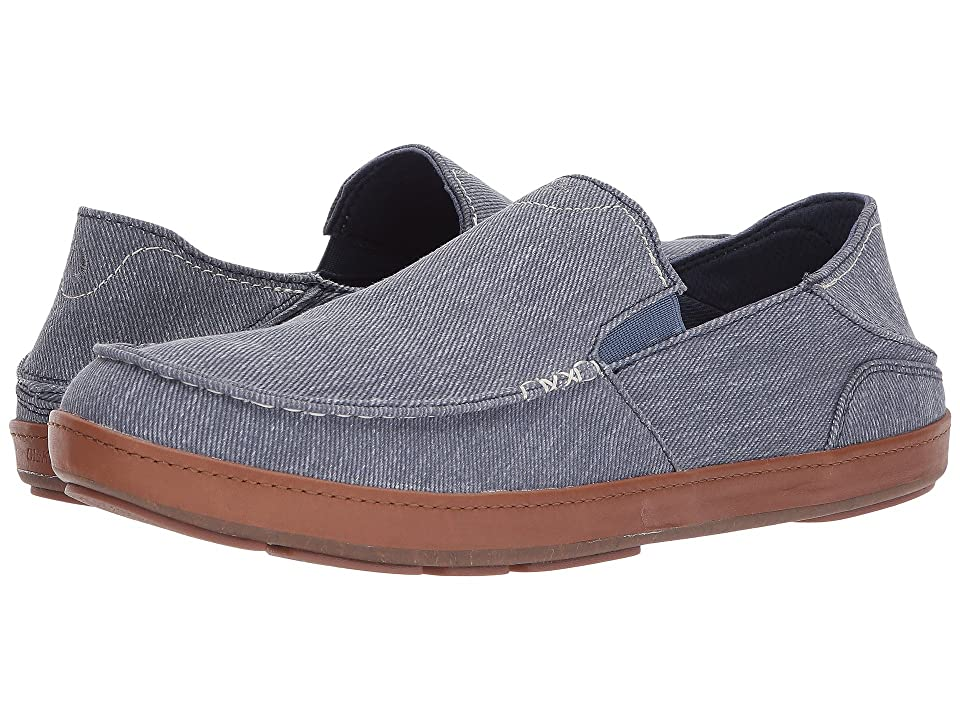 OluKai Puhalu Canvas (Vintage Indigo/Tan) Men