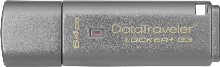 Kingston DTLPG3/64GB Data Traveler Locker + G3 - Memoria USB 3.0 (protección de Datos personales, Copia de Seguridad automática en la Nube)