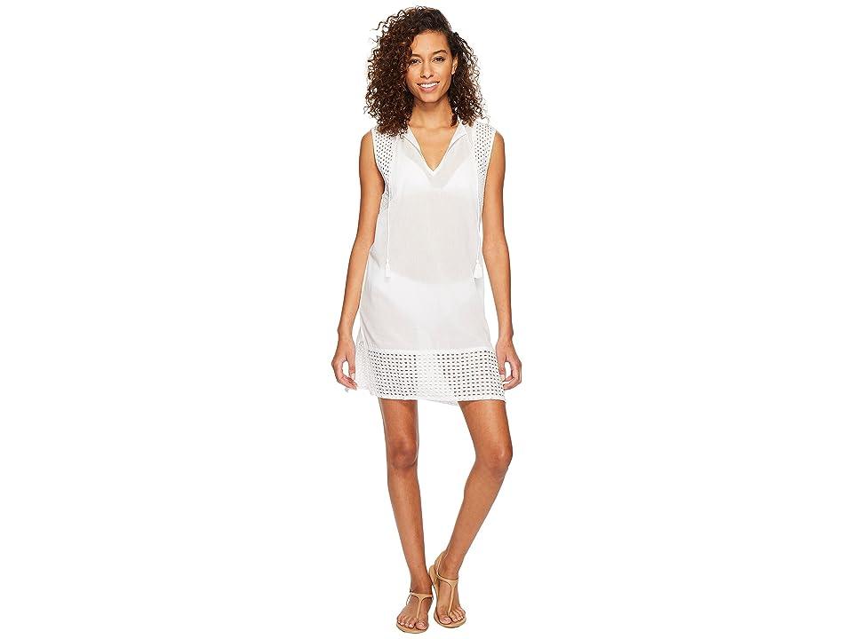 Echo Design Eyelet Breeze Tunic Cover-Up (White) Women