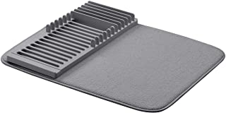 comprar comparacion AmazonBasics - Estantería de plástico de secado con esterilla, 41 x 48 cm, color carbón