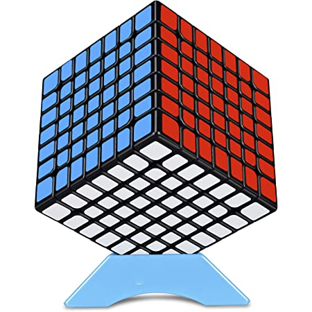 FAVNIC キューブ 魔方【磁石魔方】高級版 立体パズル 競技用 ポップ防止 プロ向け ブラック (【磁石魔方】7x7x7)