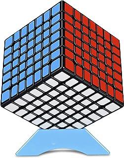 FAVNIC マジックキューブ 魔方【磁石搭載】 立体パズル 競技用 ポップ防止 こども 脳トレ ブラック (【磁石搭載】7x7x7)