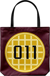 In a World Full of Tens Be an Eleven Waffle 011 Reusable Grocery Tote Bag, Stocking Stuffer Gifts