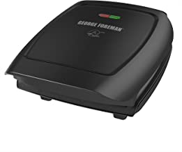 George Foreman 4-Serving Classic Plate Electric Indoor Grill and Panini Press, Black, GR2060B