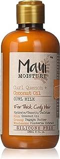Maui Moisture Curl Quench + Coconut Oil Curl Milk 8 oz (2 pack)