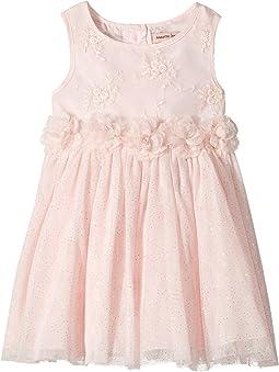 Nanette Lepore Kids - Lurex Ribbon Mesh Dress with Flowers (Infant)