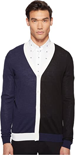 McQ - Color Block Cardigan