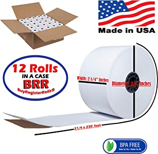 2 5/16 400 thermal rolls 12 Thermal Paper Rolls Dresser Wayne Gas System/Island Printer, Pay-At-The-Pump, Dresser Wayne Receipt Paper, Dresser Wayne Thermal Paper BPA Free Made in USA BuyRegisterRoll