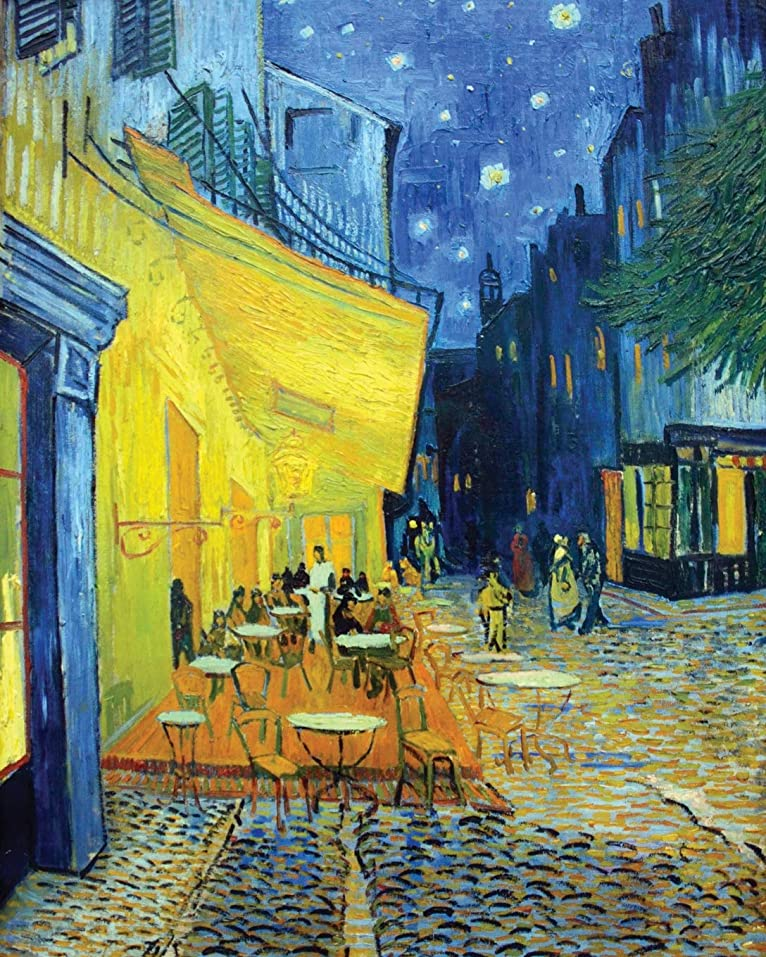 陰謀簡単にシーズンVincent Van Gogh Cafe Terrace at Night - Wide Ruled Lined Journal: Beautiful Van Gogh Art Themed Cover for work, home, or school. Perfect for writing, journal, or daily task notes. (Art Lovers Journal)