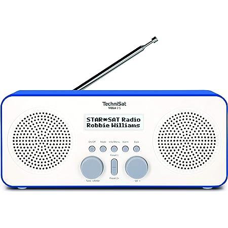 Technisat Viola 2 S Tragbares Dab Radio Dab Ukw Wecker Stereo Lautsprecher Kopfhöreranschluss Aux In Zweizeiliges Display Tastensteuerung 4 Watt Rms Weiß Blau Heimkino Tv Video