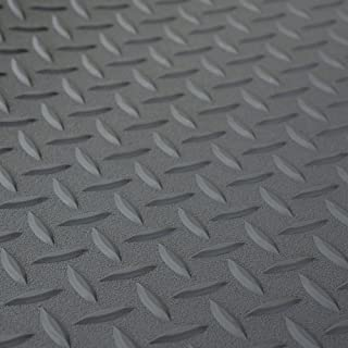 RV Trailer Diamond Plate Pattern Flooring | Gray | 8' 6