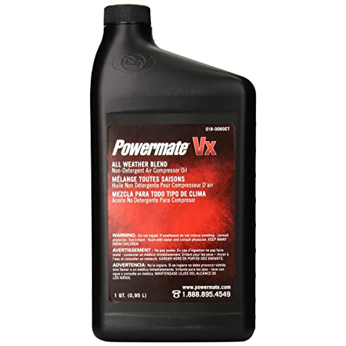 Powermate 018-0060CT Air Compressor Oil, 1-Quart