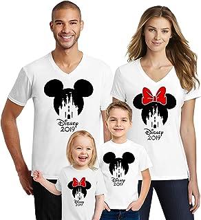 Natural Underwear Mouse Family Trip Men Women Kids Boys T-Shirts