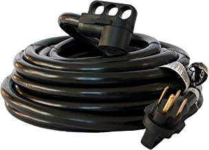 50 Amp Cynder 02016 RV Camper Electrical Extension Cord 50' ft with Handle (50 Feet, Black)