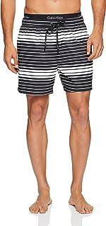 Calvin Klein Mens Graphic Stripe Print Swim Short