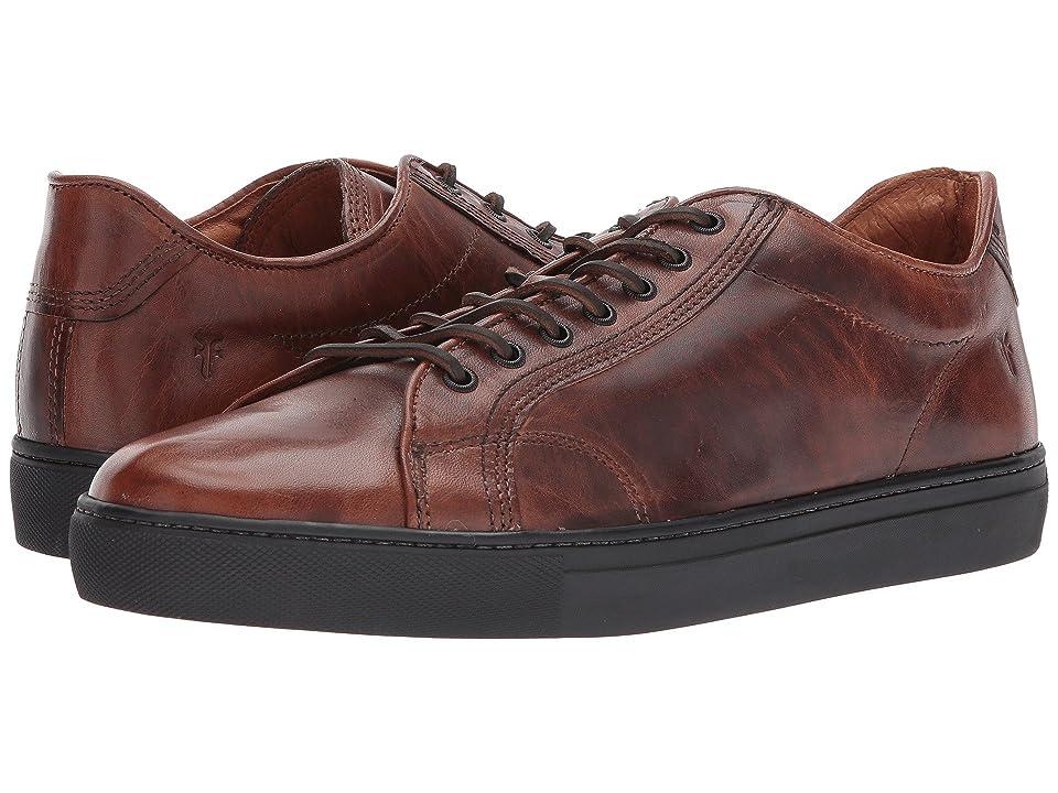 Frye Walker Low Lace (Cognac Vintage Pull Up) Men's Lace up casual Shoes