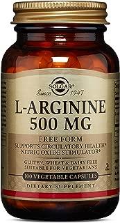 Solgar – L-Arginine 500 mg, 100 Vegetable Capsules