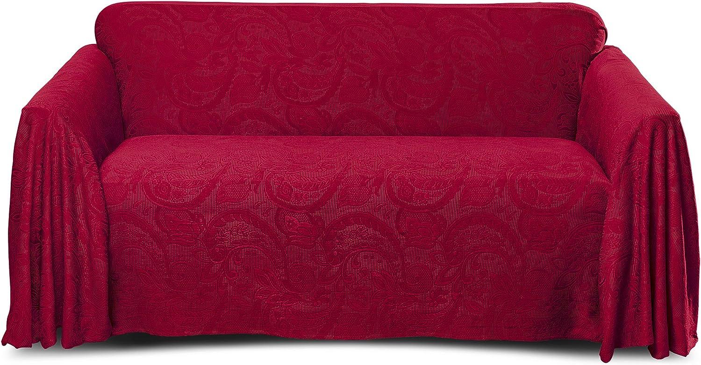 Stylemaster Alexandria Furniture Throw, Large Sofa, Burgundy