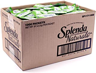 SPLENDA Naturals Stevia Sweetener: No Calorie, All Natural Sugar Substitute W/ No Bitter Aftertaste. Single Serve Granulat...