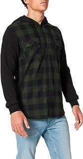 Urban Classics Mäns huvrutig flanell svett ärm skjorta fritid