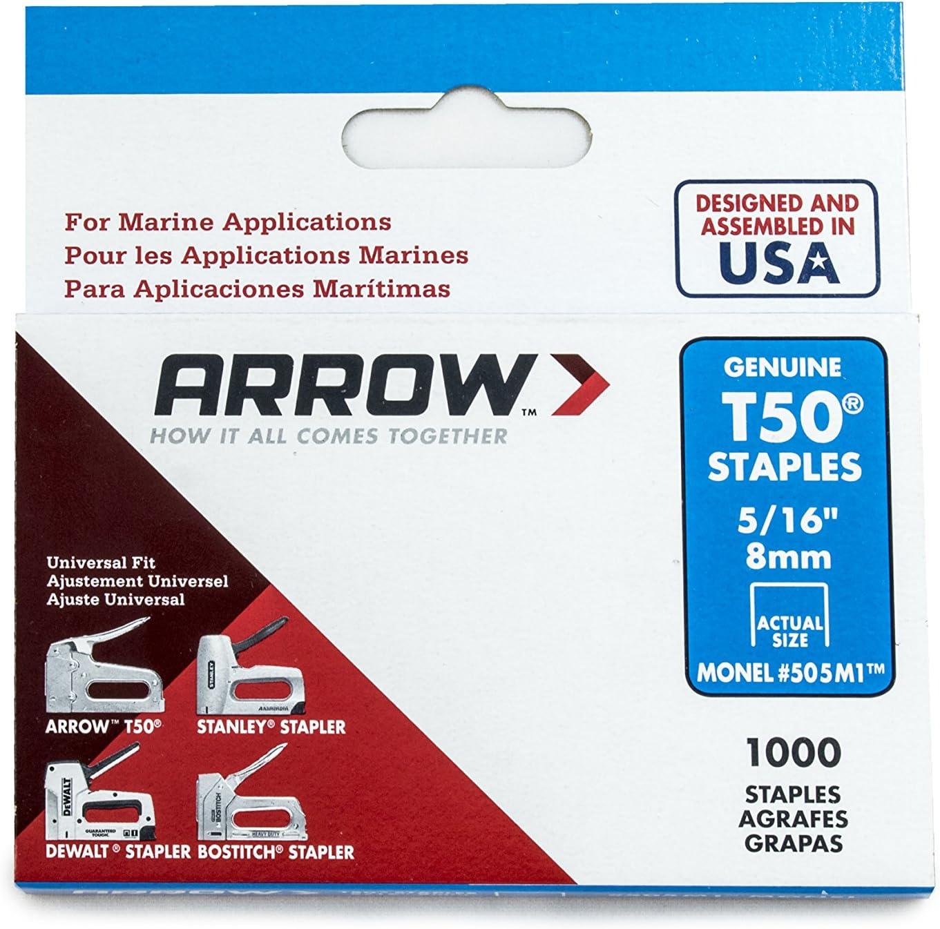 1//2 inch Arrow ARRT5012M Staples 12 mm Silver