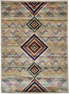 WEBTAPPETI.IT Tappeto Moderno Camera da Letto Boho Kilim Multi 140X200