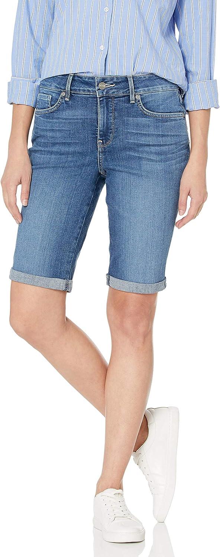 Popular brand NYDJ Women's Briella Roll Cuff Jean Slimming Shorts Denim Factory outlet Long